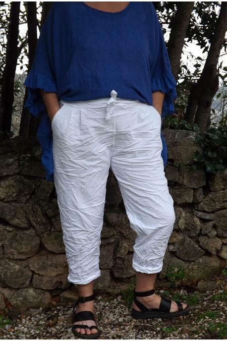 Pantalon blanc grande taille Tim