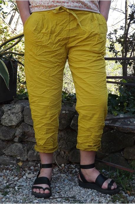 Pantalon grande taille jaune carracci Tim