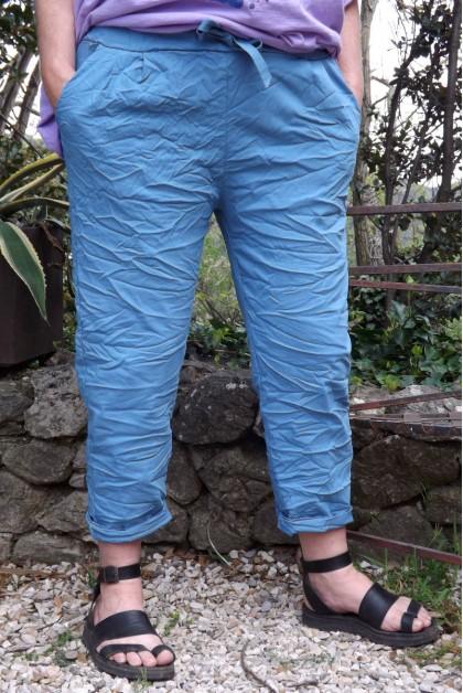 Pantalon grande taille bleu Tim