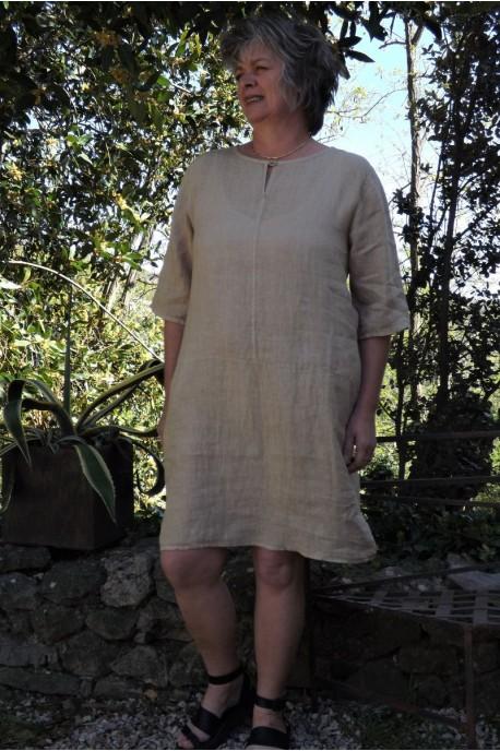 Robe lin couleur chanvre Suzon