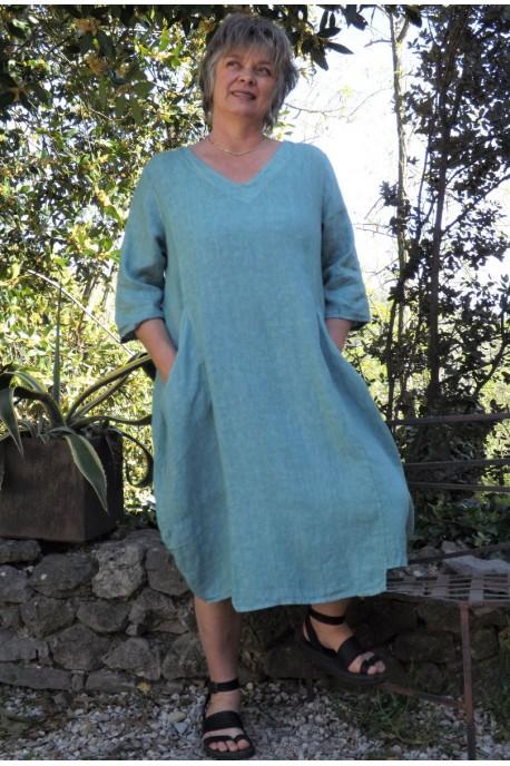Robe lin chlorophylle Julienne