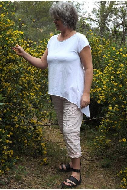 T-Shirt Robin blanc