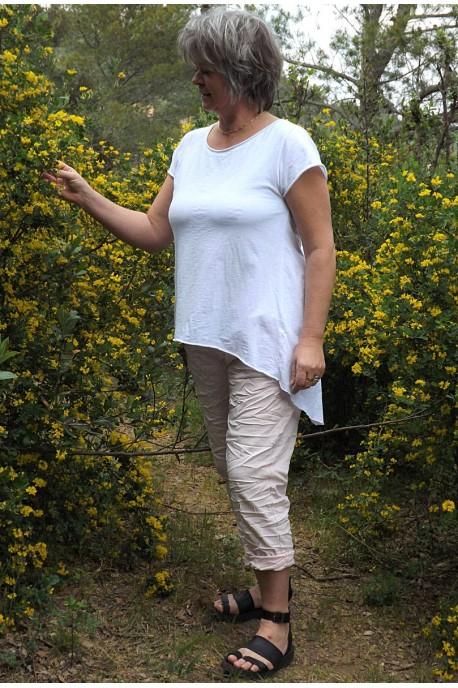 T-Shirt Robin blanc et pantalon Tim