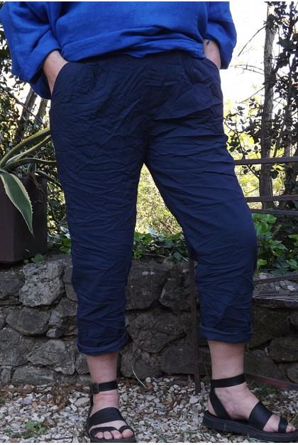 Pantalon grande taille Tim marine