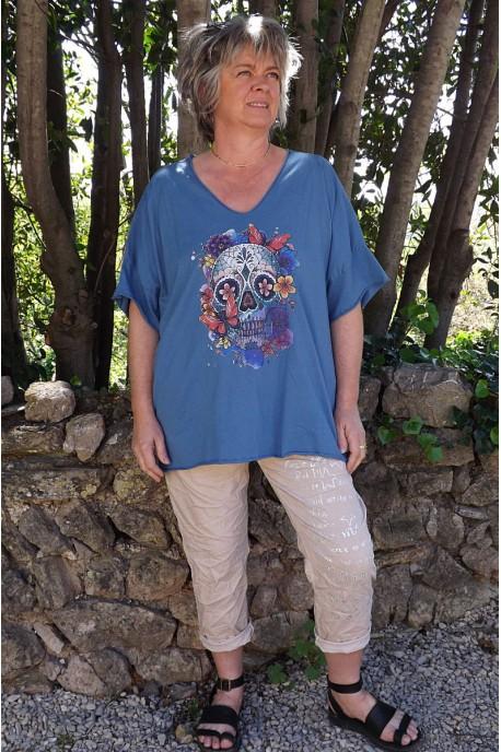 T-Shirt coton Max bleu imprimé et pantalon Tim