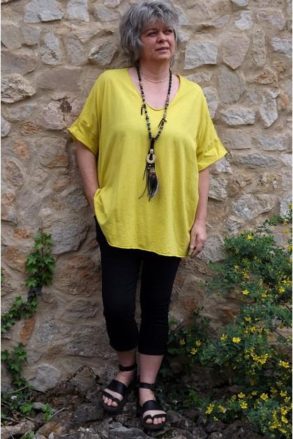 T-Shirt grande taille Gaston jaune