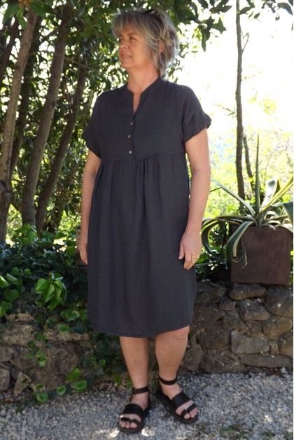 Robe en lin Magalie anthracite