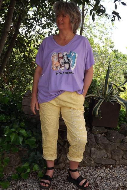 T-Shirt imprimé basket lilas et pantalon Tim