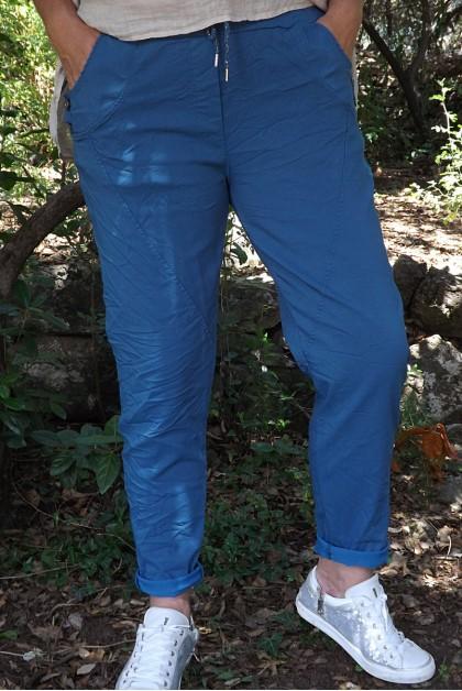 Pantalon grande taille Oscar bleu