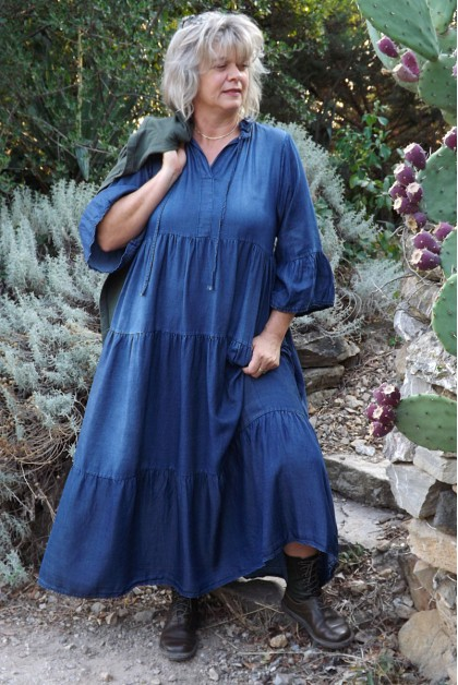 Robe longue en tencel Pauline