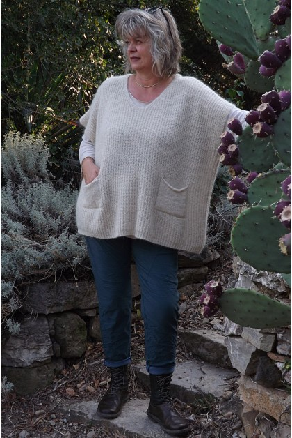 Pull sans manches Isidore beige