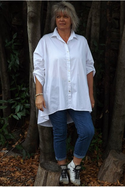 Chemise oversize Camille blanche